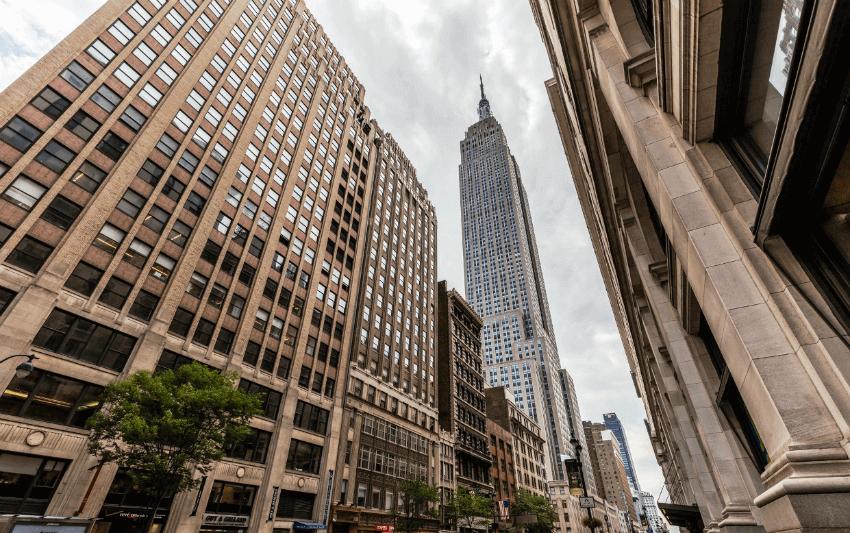 Небоскреб Нью Йорка Empire State Building